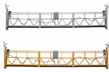Divar boyama üçün 3 mərhələli halatlı asma platforma isti galvanizli 7.5m zlp800a