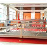 zlp630 alüminium asma platforma (ce iso gost) / yüksək pəncərə təmizləyici avadanlıq / müvəqqəti gondol / beşik / swing mərhələsi isti