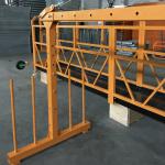vahid fazlı asma tavan platforması 800 kq 1.8 kw, qaldırma sürəti 8 -10 m / dəq